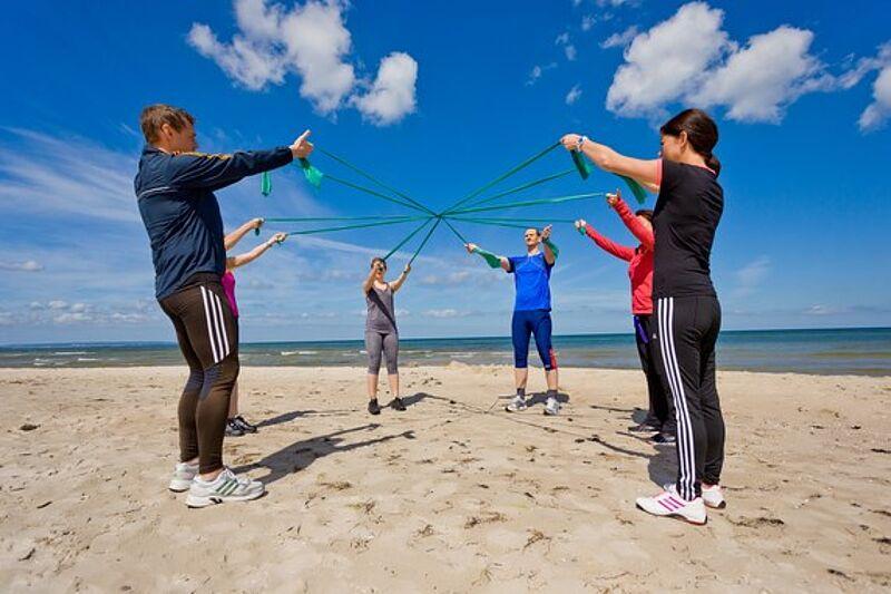 Strandsport F.X. Mayr Kur - Rügen/Ostsee, Norddeutschland, FX Mayr fasten